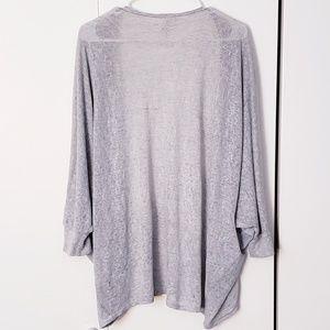 S&S Inc Sweaters - flowy light heather gray 3/4 sleeve open cardigan